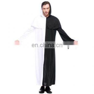 Halloween Outfit Black and White Impermanence Ghost Cosplay Costume for Men