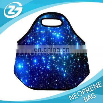 Color Blue Shining Stars Boys Girls Kids Insulated School Travel Outdoor Thermal Waterproof Carrying Lunch Tote Bag