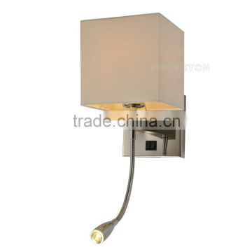 Square fabric wall mounted led bed lamp,Fabric wall mounted led bed lamp,Wall mounted led bed lamp WL1009