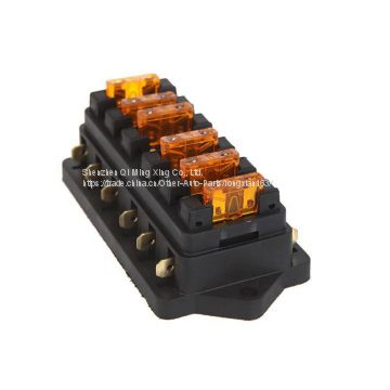 zookoto vehicle 6 way circuit automotive middle-sized blade fuse box  block holder for universal