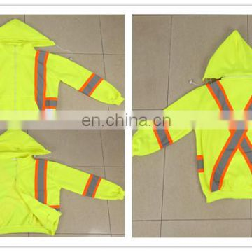 fluorescent fabric safety jacket with pockets