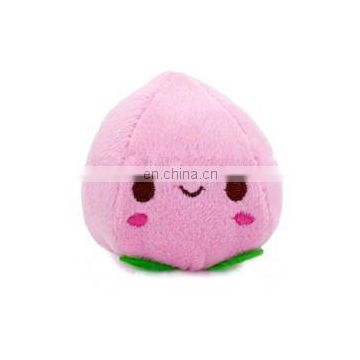Wholesale smiley custom stuffed peach fruit plush pillow toys