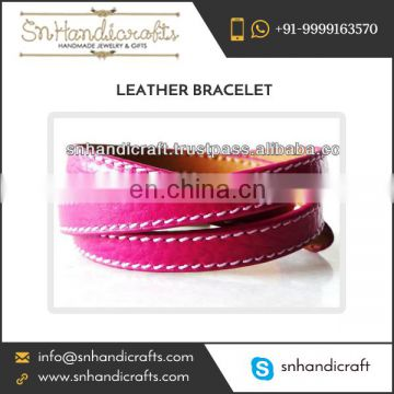Braided Leather Wrap Bracelet for Sale