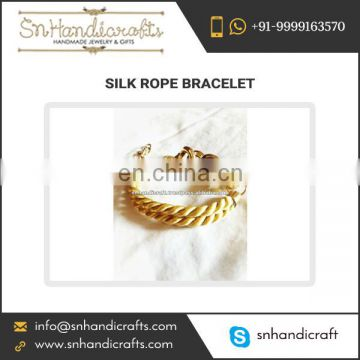 Premium Quality Made Silk Rope Bracelet from Authentic Supplier