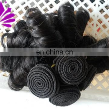 Cut From Young Girl 100% Virgin Brazilian Hair Dyeable Natural Black Sexy Aunty Funmi Hair Curls