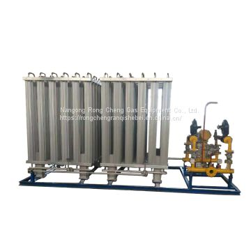 Rong Cheng gas equipment LNG double 300Nm/h vaporizer +200Nm/h supercharger + water bath reheater pressure regulating skid mounted equipment