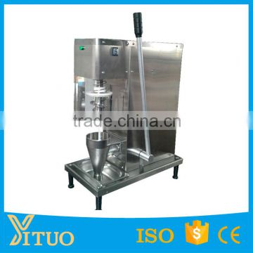 commercial stainless steel cone yogurt blender machine real fruit ice cream maker