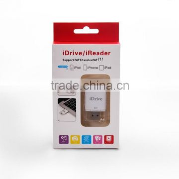 Wholesale USB Flash Memory Stick, OTG Micro USB 2.0 Flash Drive for iphone, 16G, 32G, 64G, 128G