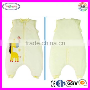 C700 Custom Baby Thickness Cotton Sleep Sack Blanket Split Sleeve Wearable Factory Blanket