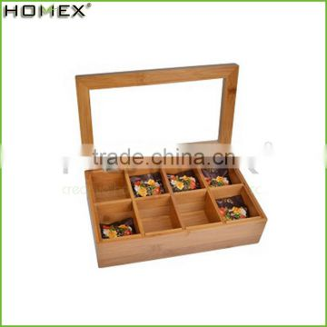 Wooden Bamboo Tea Storage Box Manufacturer/Homex_Factory