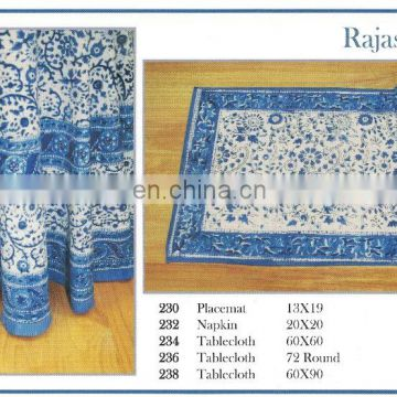 RAJASTHAN Table Cloth, Placemat & Napkin