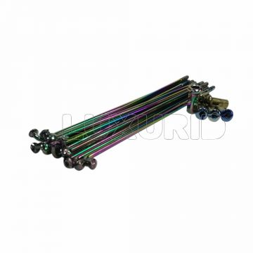 Colored motorcycle carbon steel spokes and nipples 8G 9G 10G