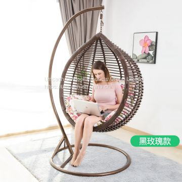 Outdoor Indoor Pe Woven Swing Rattan Patio Hanging Bird Nest Basket Chair With Cushion Of Patio Swing From China Suppliers 159626227