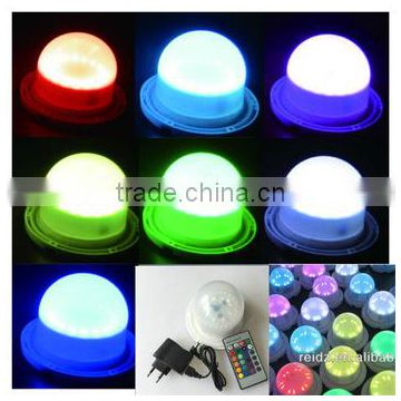 waterproof rechargeable led light 16 colors change