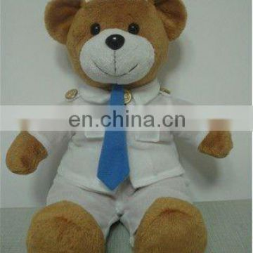 plush bear with T-shirt and pants