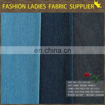 High quality low price denim supplier keqiao printed shoes denim fabric