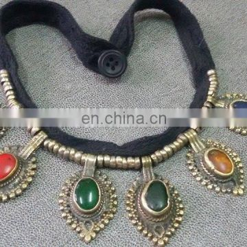 (KN-0003) Afghan kuchi necklace