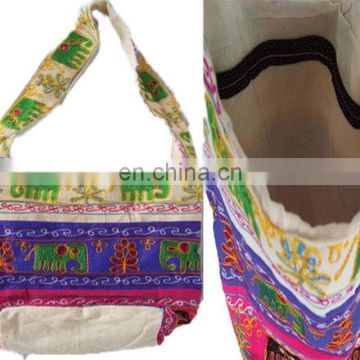 elephant design Embroidered ethnic craft work Bag