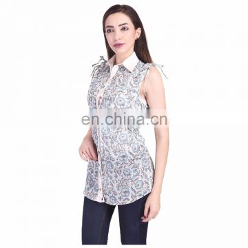 3 Pcs lot Top Hand Block Print Women's Tunic Shirt Indigo Blue Kurti L, M Xl