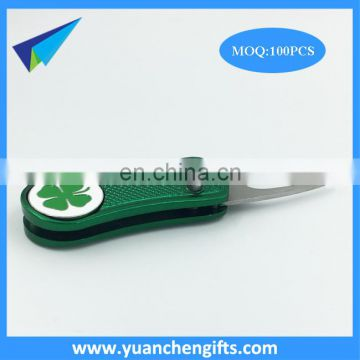 Wholesale Repair Golf Divot Tool With custom logo ball marker,hat clip