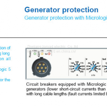 MCCB  Case circuit breaker Generator protection