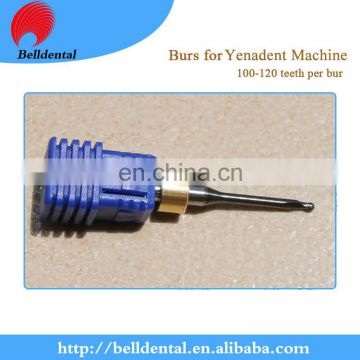 CAD CAM System DLC Coating Dental Zirconia Milling Burs for Yenadent