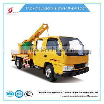 Solar steal Guardrail Pile Driver Truck-mounted Highway