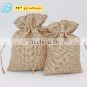 Cheap Small Mini Packaging Natural Jute Drawstring Bag