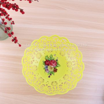 factory direct wholesale plastic plate with flower design