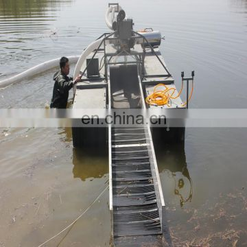 Ore dredgers made in china trash skimmer boat	paint bucket malaysia gold mining dredge