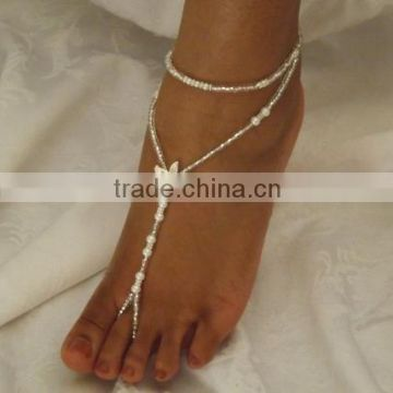 Flower Girl Foot Jewelry Starfish Bridal Wedding Anklet Baby Toddler Kids Anklet