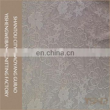 Good quality cheap white knitted elastic sheer lace fabric