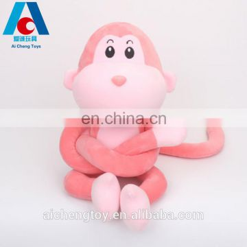 hot sale soft plush stuffed animal toys indoor plush monkey pillow