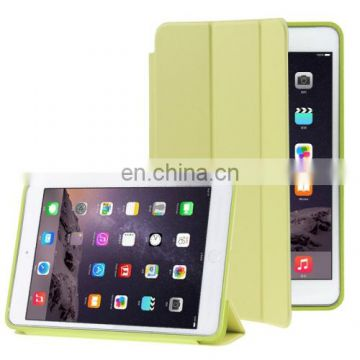 3-fold Naturally Treated Smart Leather Case with Sleep / Wake-up Function & Holder for iPad Air 2
