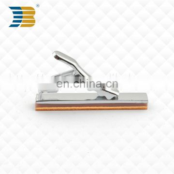 High end custom acrylic series stainless steel bottom wooden surface unique men tie clip