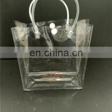button handle clear packaging custom pvc bag for shoes