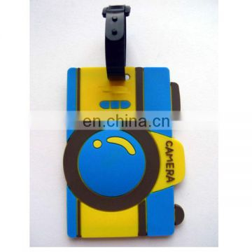 Camera Design Soft PVC Luggage Tag Baggage Suitcase Name Holder