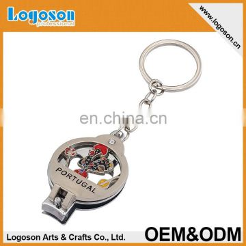 New Product Italia Souvenir Custom Finger Nail Clippers Keychain Wholesale