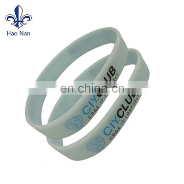 New party favor printed silicone wristband with custom design logo