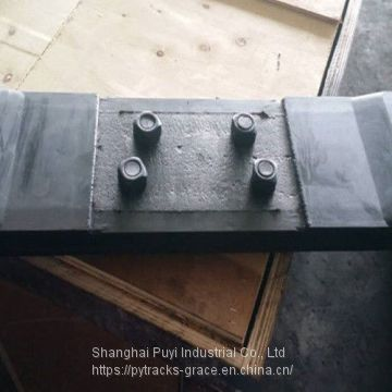 Protective Chain On Excavator Rubber Pads Black Color High Performance