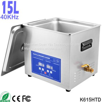K615HTD 15L Heated Ultrasonic Cleaning Laboratory Sonicator Bath