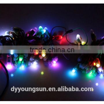 9mm WS2801 Led Pixel Module RGB a string Light Addressable, Chrismas light,IP68 waterproof 3pin,Green Wire,DC 5V,