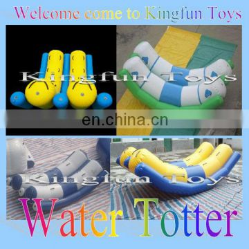 Double tubes water totter/water seesaw