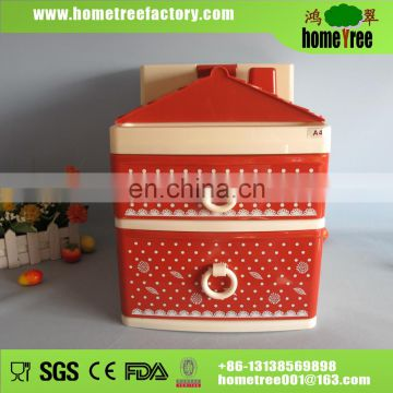 2015 fashion house designed plastic drawer cabinet