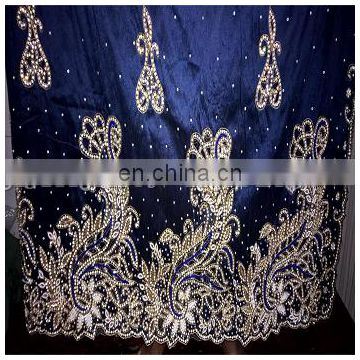 High Quality More Heavy Stone Work Pearl Work Cut Work Velvet wrapper Indian George