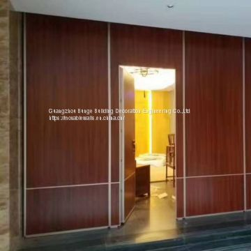 Interior Soundproof Room Divider Aluminium Alloy Melamine Surface Hotel Folding Partition Walls