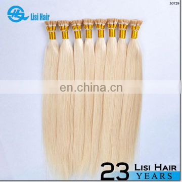 2014 Hair Factory Fusion Italian Keratin blonde i-tip dark ash blonde hair