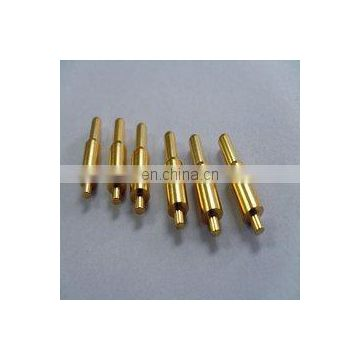 Spring loaded copper connector pogo pin for battery