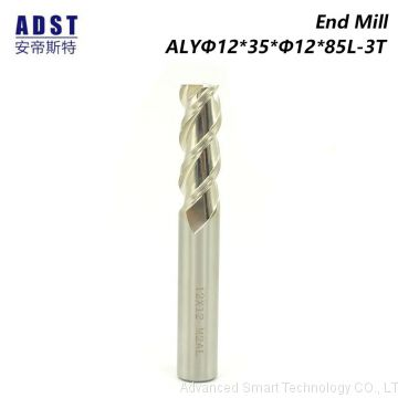 3 flute Parallel Shank HSS Square End Milling Cutter