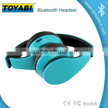 Factory wholesale Bluetooth wireless Headset Stereo foldable Headphone Microphone wireless Earphone